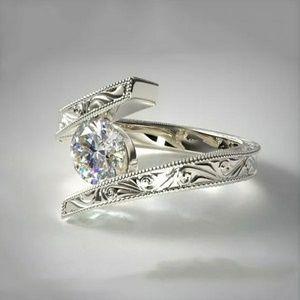 Female Cz Crystal Stone Ring